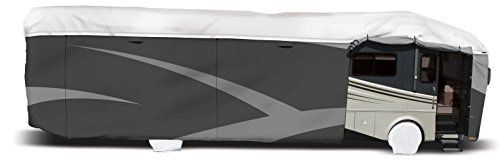 "ADCO 34826 Designer Series Gray/White 34' 1"" - 37' DuPont Tyvek Class A Motorhome Cover"
