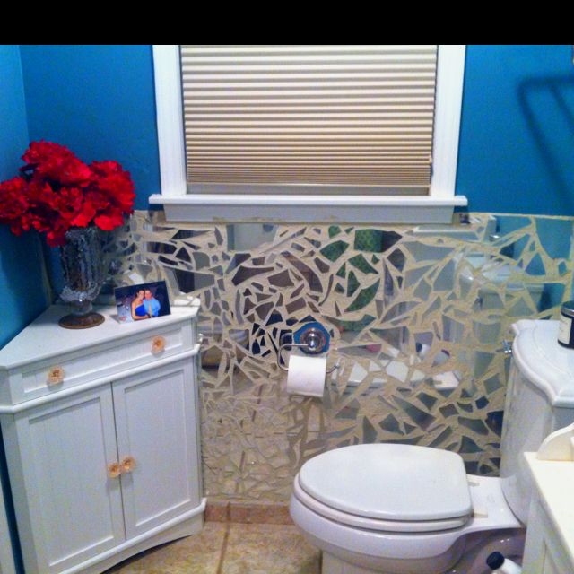 Finally Finished My Broken Mirror Mosaic Wall Design On A Dime Home Pinterest Mirror