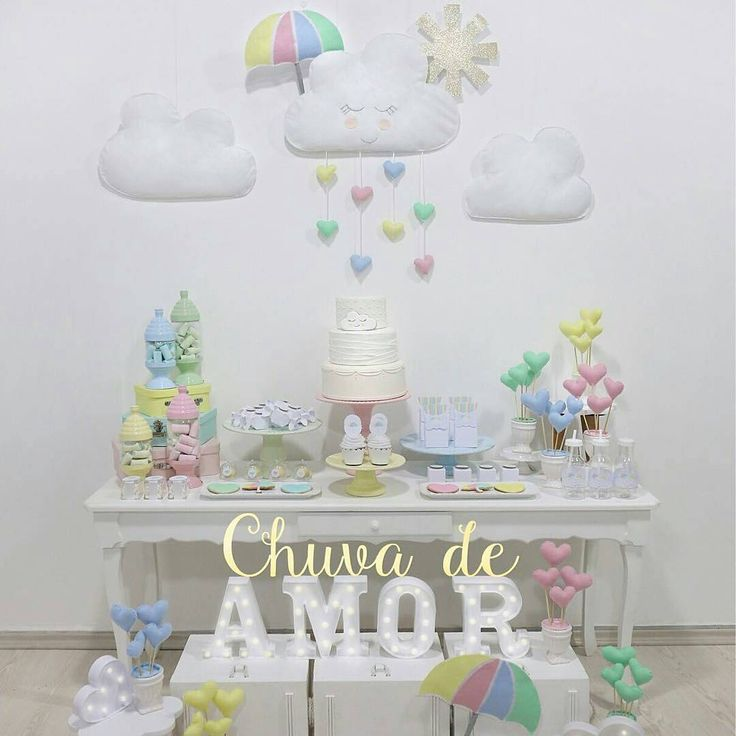 Que tal #batizado com #chuvadeAmor Decor @decore_comemore #festejandoemcasa #chuvadeAmorfc #festachuvadeamor