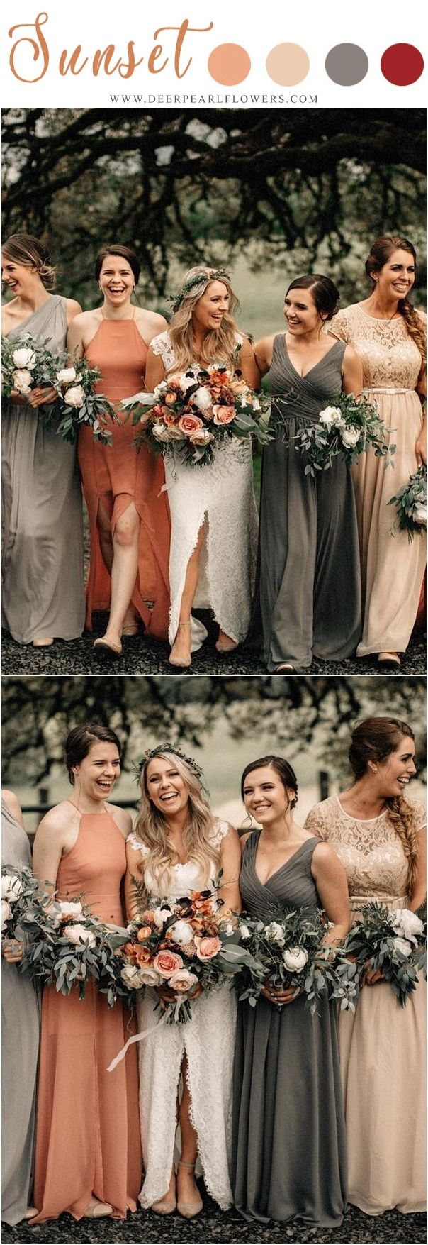 Wedding after party decorations january 2019  Vintage Sunset Orange Wedding Color Ideas for   Bridesmaid