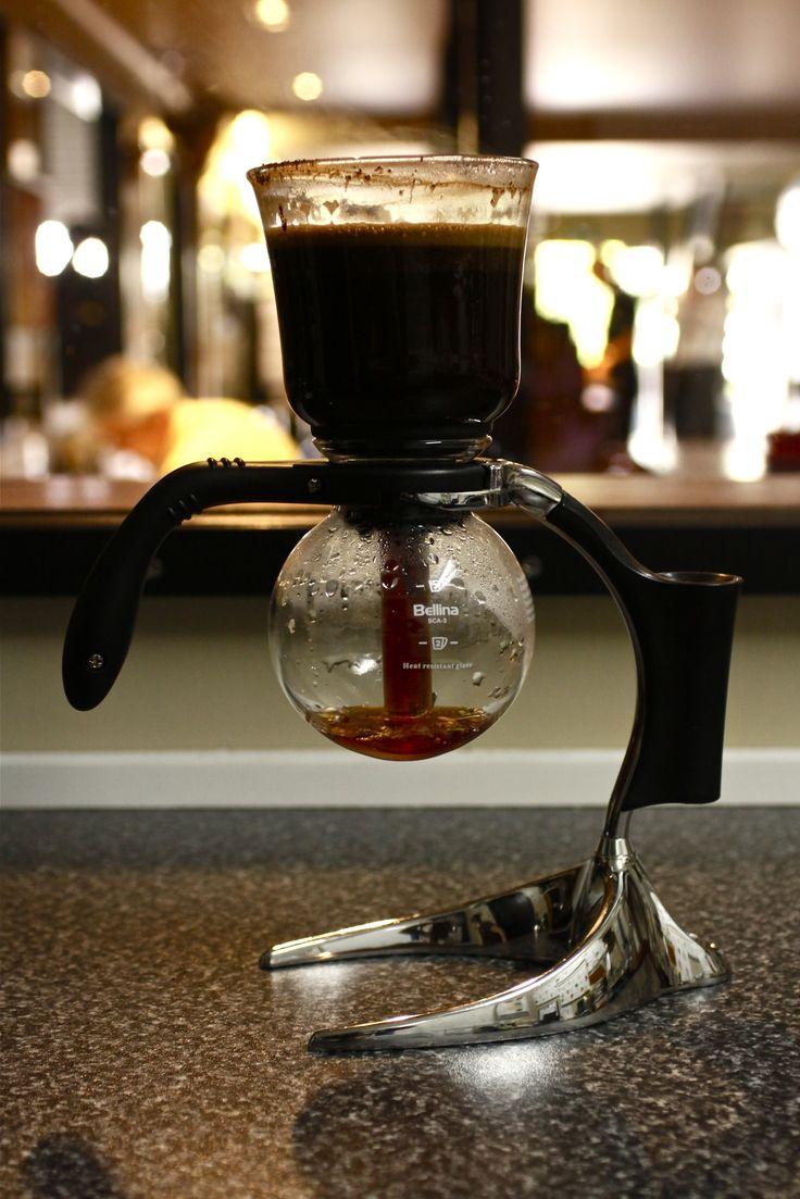 Syphon at work, alternative brewing method