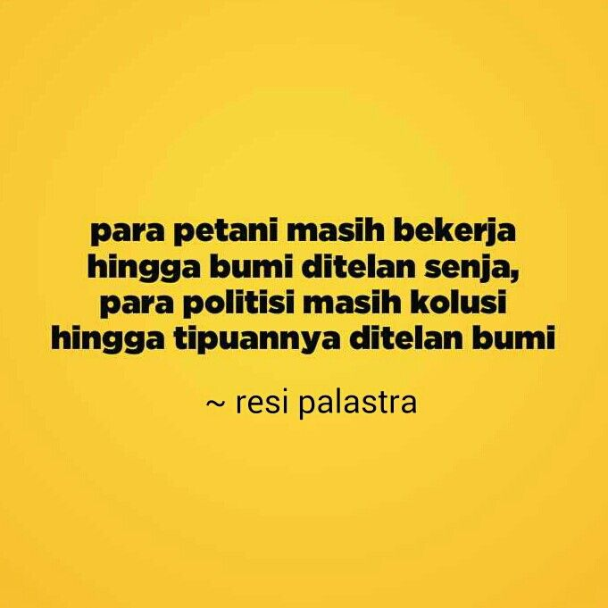 petani dan politisi