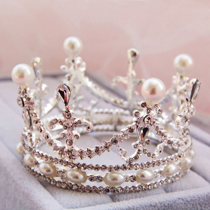 Wedding crown - bride qureen tiaras - delicate pearl crystal crown-mini crown,small crown by ForLayla on Etsy https://www.etsy.com/listing/227175889/wedding-crown-bride-qureen-tiaras
