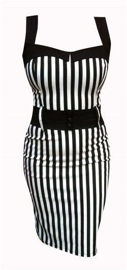 Switchblade Stiletto Zebra Darling Dress from Inked Shop