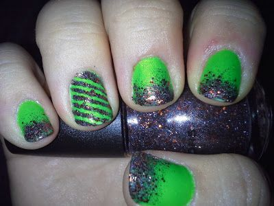 Pinkies for a Penny: More October Nails