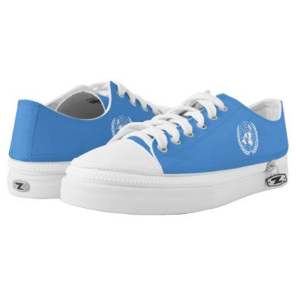 #UN Flag Low-Top Sneakers - #womens #shoes #womensshoes #custom #cool