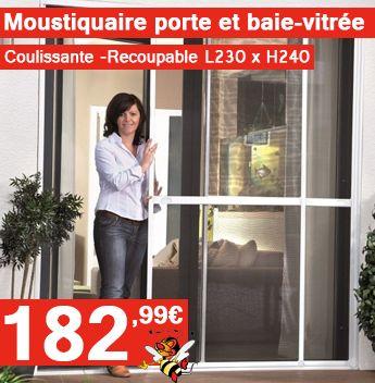 La moustiquaire baie vitrée coulissante recoupable est idéal pour vos baies-vitrée. Recoupable à la taille de votre porte, facile à installer