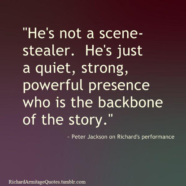 About Richard Armitage.