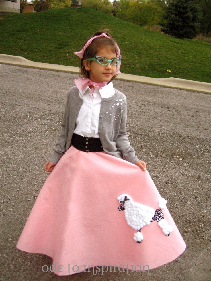 For kindergarten 50's day!