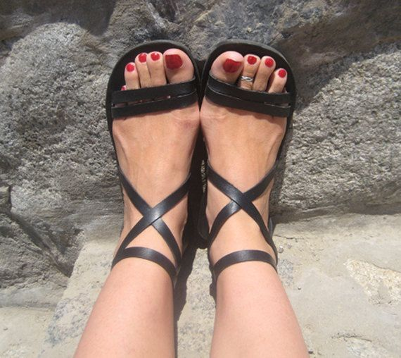Strappy Sandals, Comfortable Leather Sandals, Roman Greek Style ...