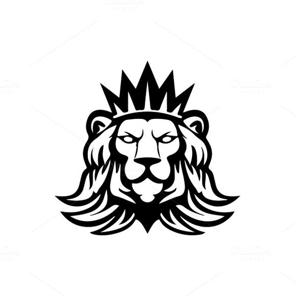 Lion logo Template by MustaART on @creativemarket