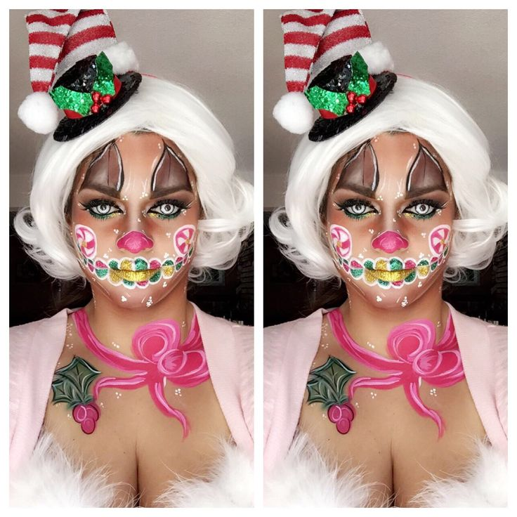 christmas candy makeup
