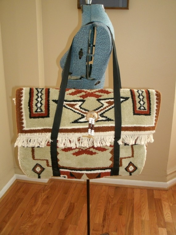 Vintage Navajo Carpet Bag Diy Fabric Amp Sewing