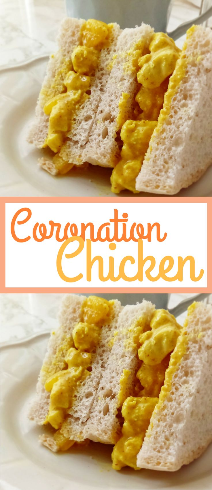 Easy Coronation Chicken - the perfect sandwich filling for fafternoon tea! Recipe via @BryJaimea