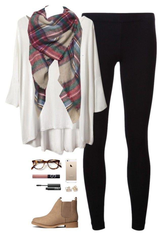 Piko, plaid blanket scarf, leggings, & booties.