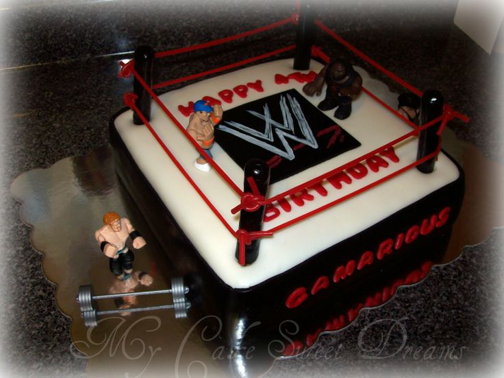 Image Detail For  WWE Wrestling Cake