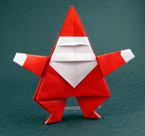 Santa Claus by Linda Mihara Diagrams in Easy Christmas Origami Folded from a square of origami paper