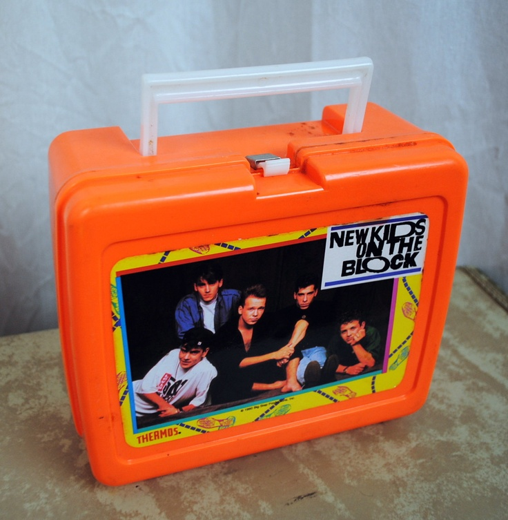 Vintage New Kids on the Block Lunch Box Thermos. via Etsy.