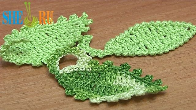 crochet crochet leafs crochet leaves crochet oval single crochet ...
