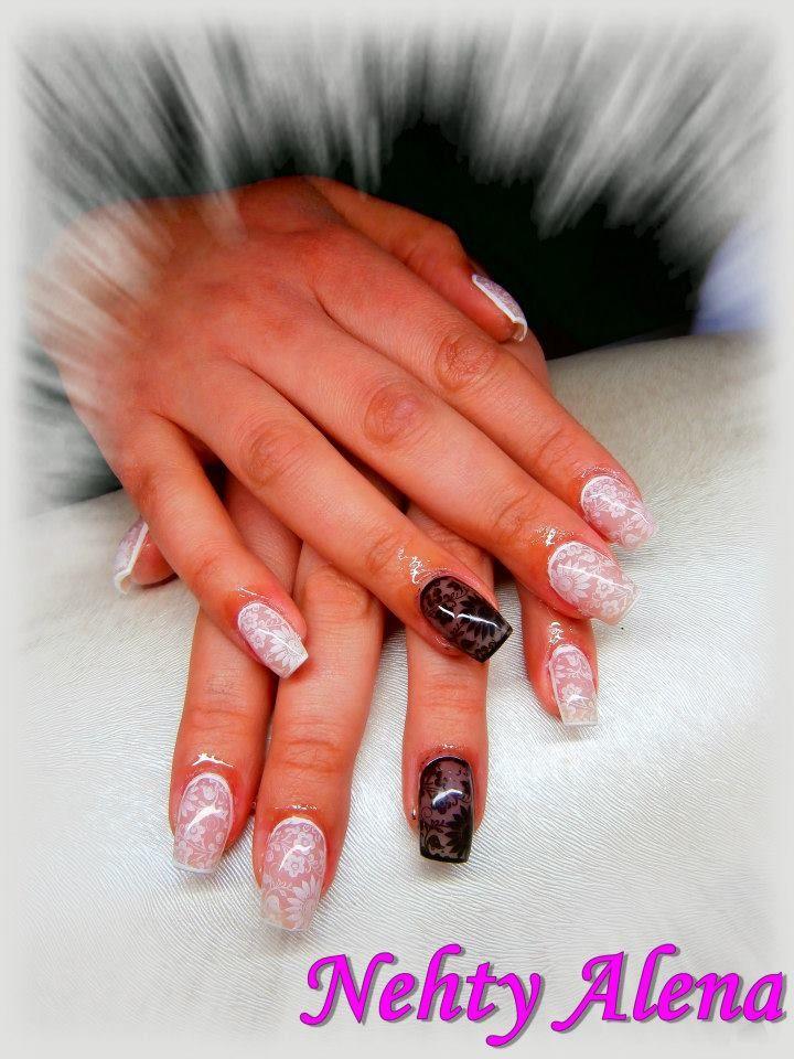 nail design - silonkový efekt