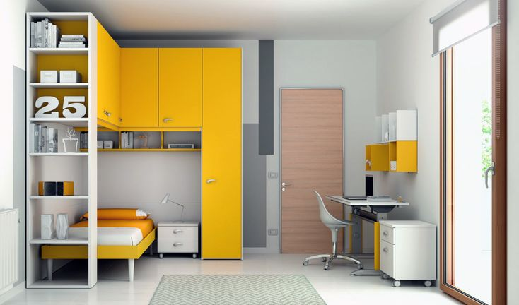 Kids bedroom: perfect for a corner space:  Moretti Compact, collection KP 101 |