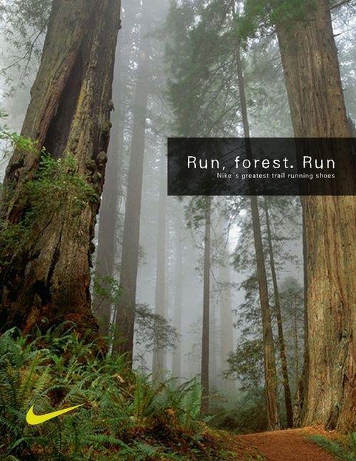 Run, Forest, Run #oofos @Nicole Novembrino Novembrino Novembrino Novembrino Lucke lets run here someday!!!! | SPORTS | Pinterest | Running, Motivation and Wor…