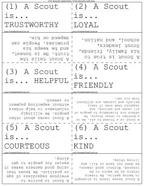 Use these flash cards to memorize the meaning of the Boy Scout Law. Free to download and print