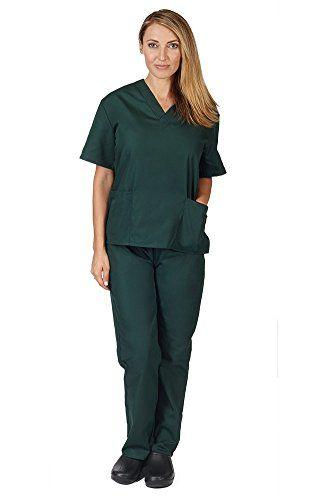 Women's Scrub Set - Medical Scrub Top and Pant, Dark Hunt... https://www.amazon.com/dp/B013VE5D6W/ref=cm_sw_r_pi_dp_lqIzxbZK0HD74
