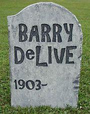 "Halloween 'Barry DeLive' tombstone prop decoration 24""x16""x2"""