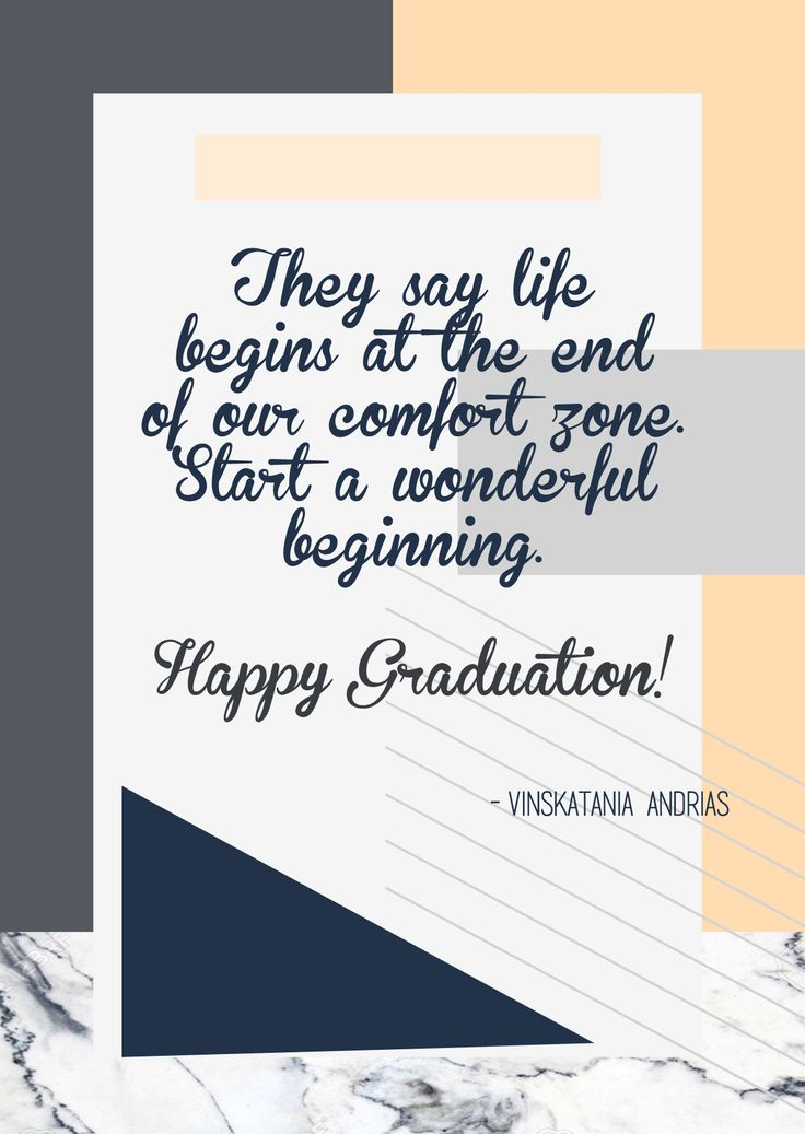 General greeting cards for graduation + life quote ITB October 2016