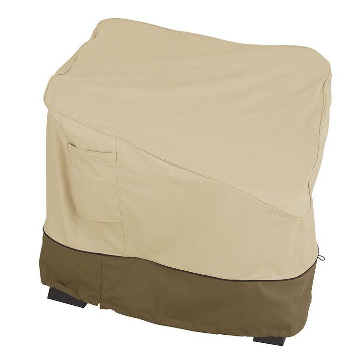 Outdoor Classic Accessories Veranda Patio Corner Sectional Cover, Beig/Green (Beig/Khaki)
