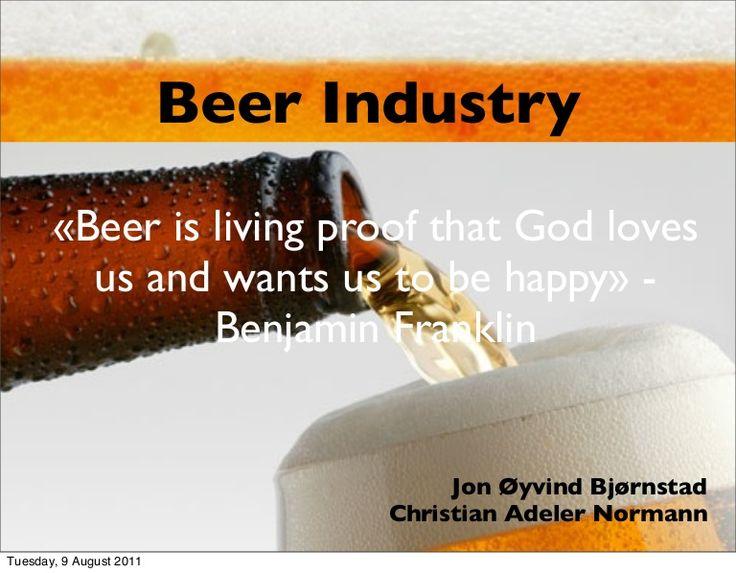 beer-industry by Christian  Adeler via Slideshare
