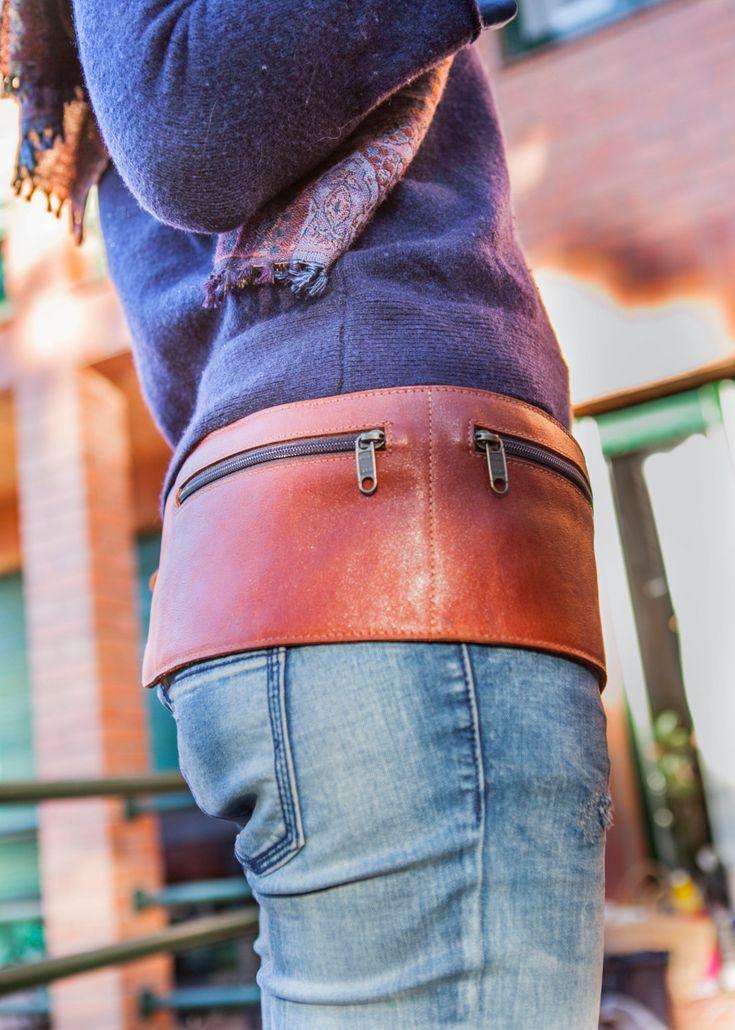 Leather BELT BAG unisex // Leather fanny pack // Leather от KURTIK