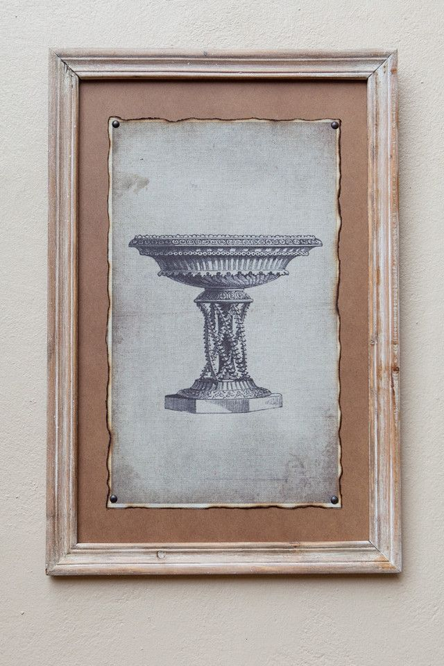 Natural Framed Print Pot I