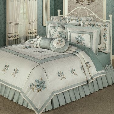 Rose Manor Embroidered Comforter Bedding