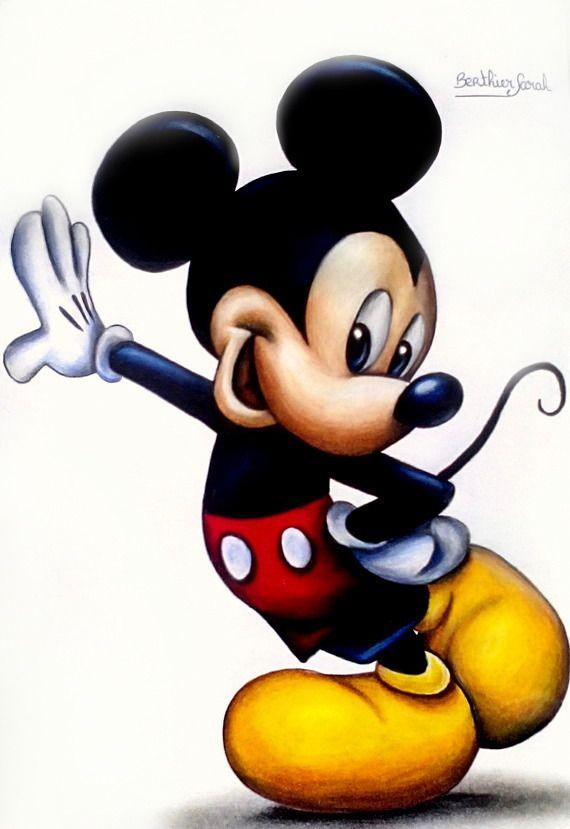 Les 25 meilleures id es de la cat gorie mickey mouse - Apprendre a dessiner mickey ...