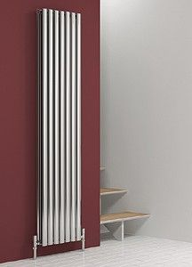 Reina Radiators Nerox Double Panel Vertical Radiator In Polished Stainless Steel Ultra Efficient Bathroom And Kitchen Goods For The Uk