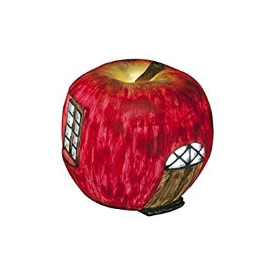 Apple Fairy House - Solar Fairy House Lights Up At Dusk