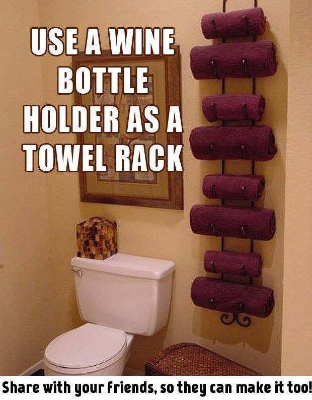 Great way to re-use an old wine rack. Click on the picture for more info