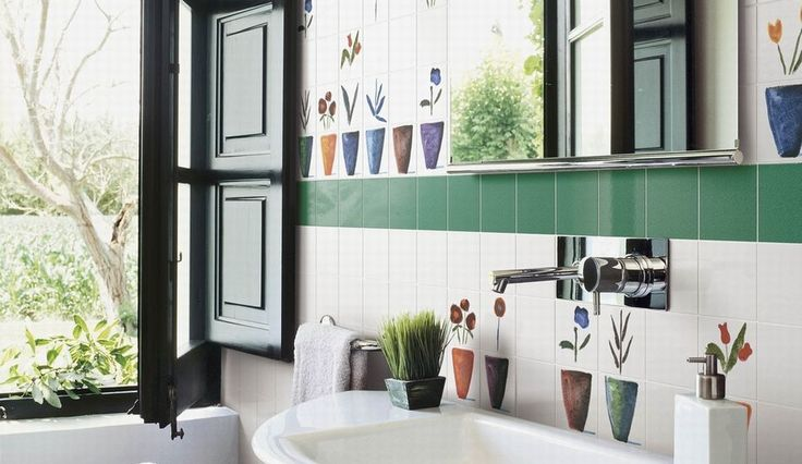 Gabbianelli - Piastrelle e decorazioni per i muri del bagno, donano un tocco personale alla stanza.