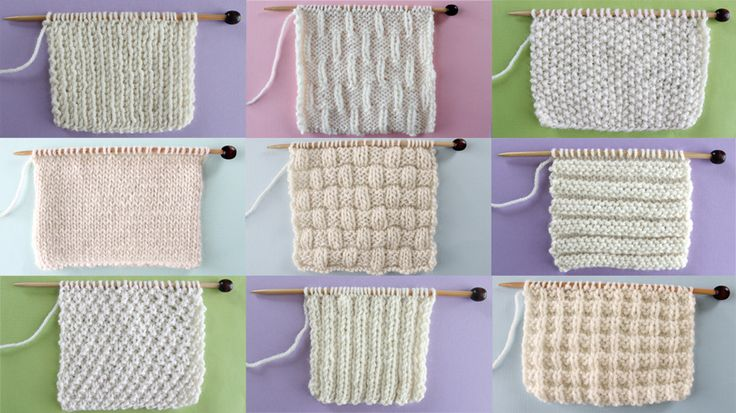 Knit and Purl Stitch Patterns with Free Patterns and Video Tutorials in the Absolute Beginning Knitter Series by Studio Knit