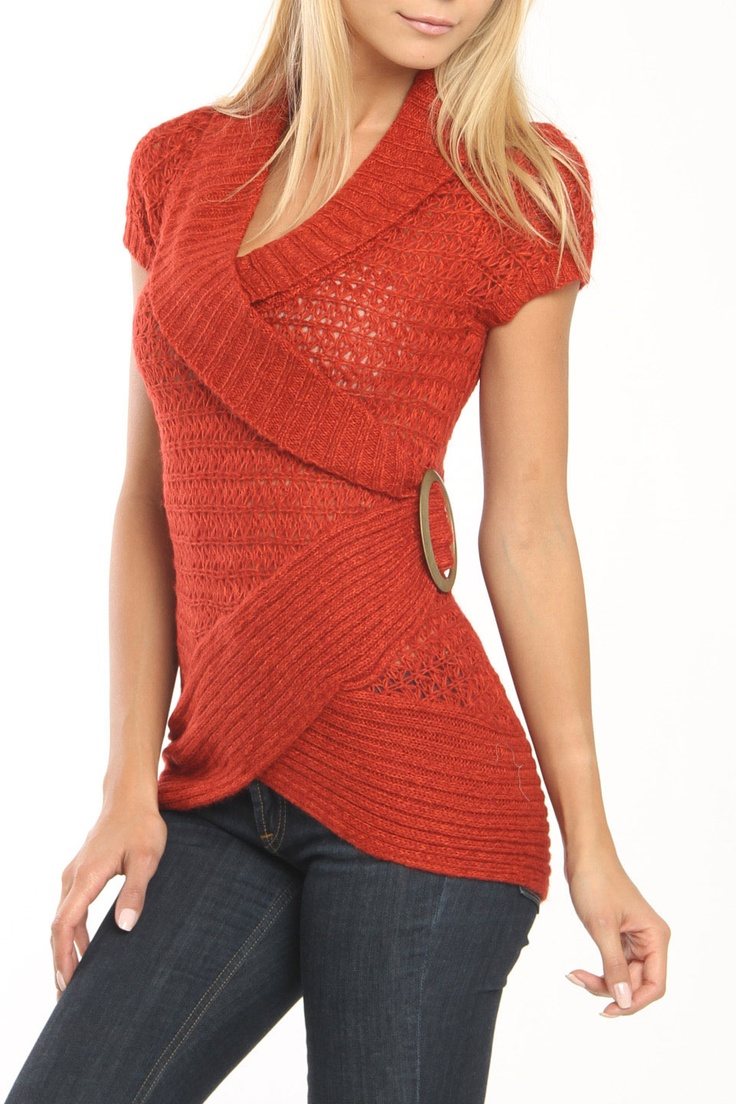 Speed Dial Sweater In Crimson Twist .... CROCHET AND KNIT INSPIRATION: http://pinterest.com/gigibrazil/crochet-and-knitting-lovers/