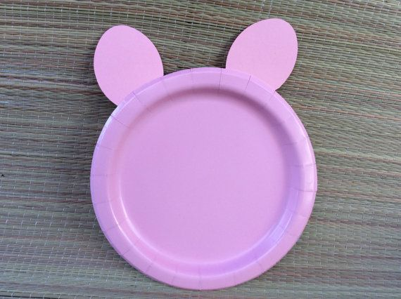 Peppa pig birthday party/24 Peppa pig plates by BABYFROG2015