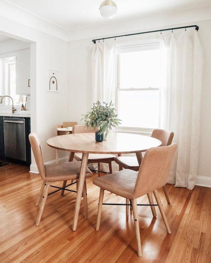 Kissa Canyon Tan Light Oak Dining Chair Minimalist Dining Room
