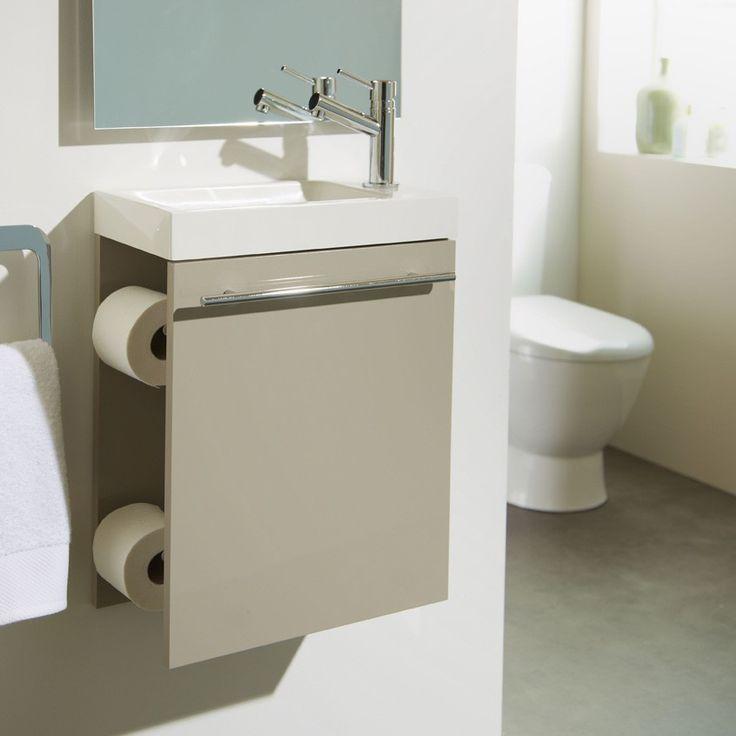 Nouveauté ! Meuble lave-mains daim distributeur papier WC #meuble