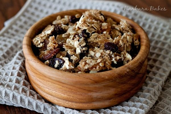 Healthy Coconut Granola Cluster Recipe - if you love your granola chunky, you'll love this recipe #snack #breakfast #recipe