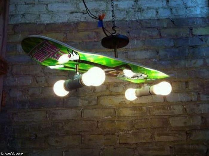 #DIY #skateboard #lamp