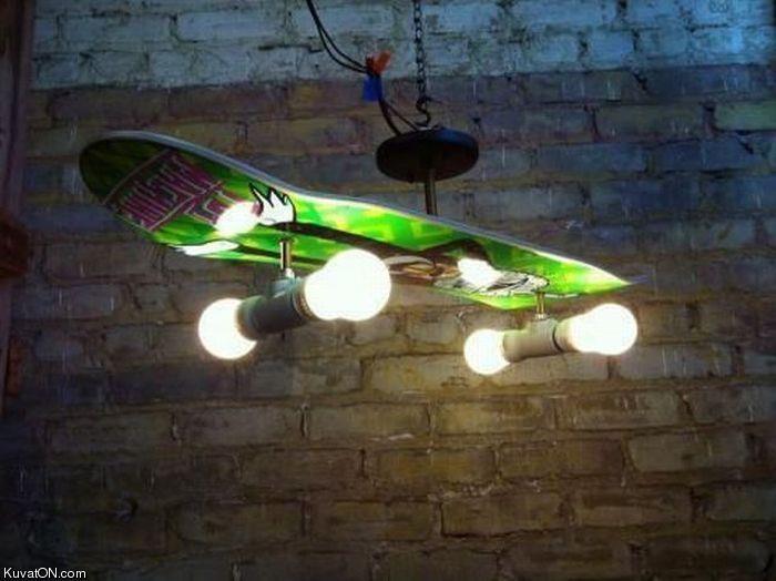 #DIY #skateboard #lamp