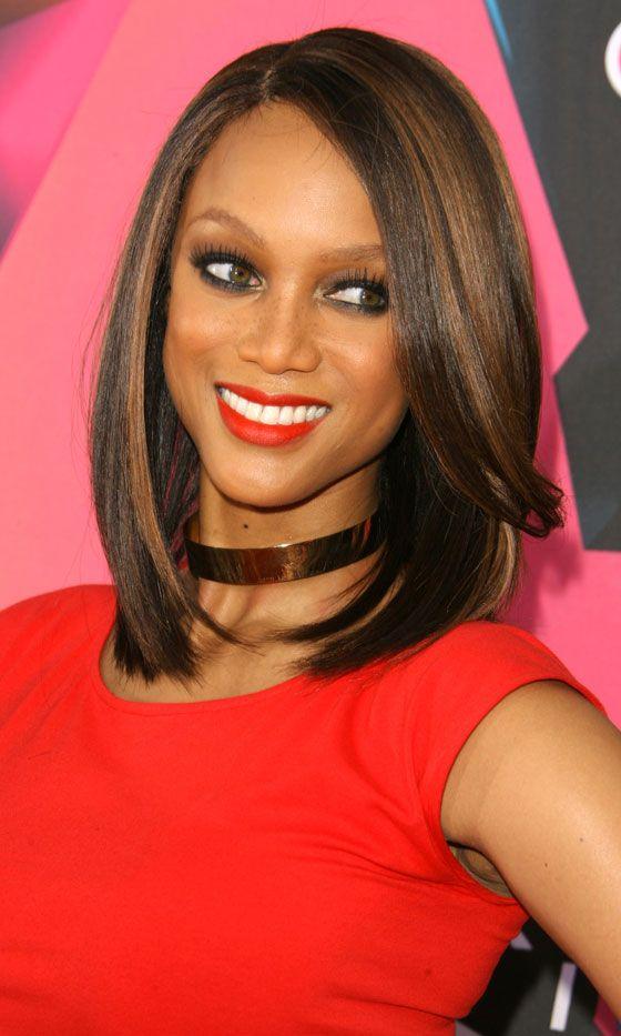 Tyra Banks Sporting A Super-Sleek Bob Hairstyle, 2010