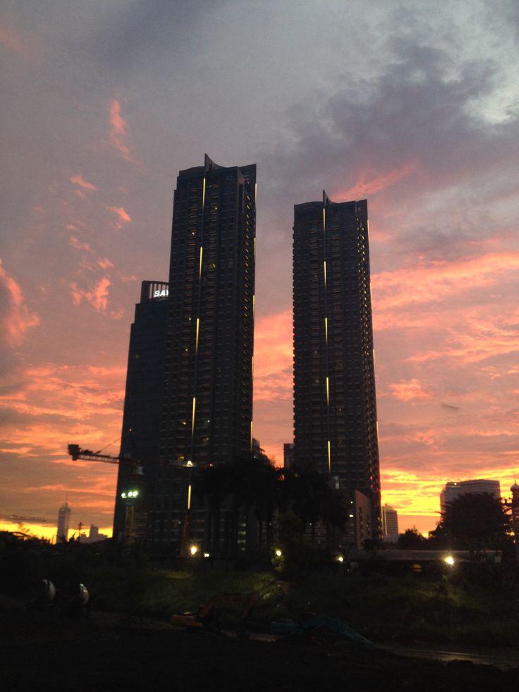 Look what i found! Jakarta sunset!  #nofilter #jakarta